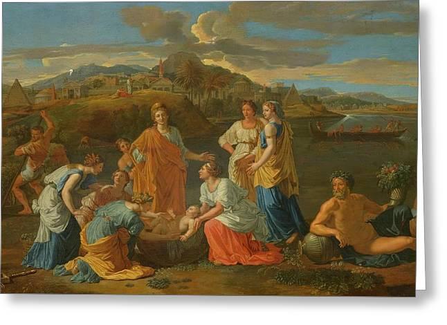Circa 1700 Follower Of Poussin Nicolas Greeting Card