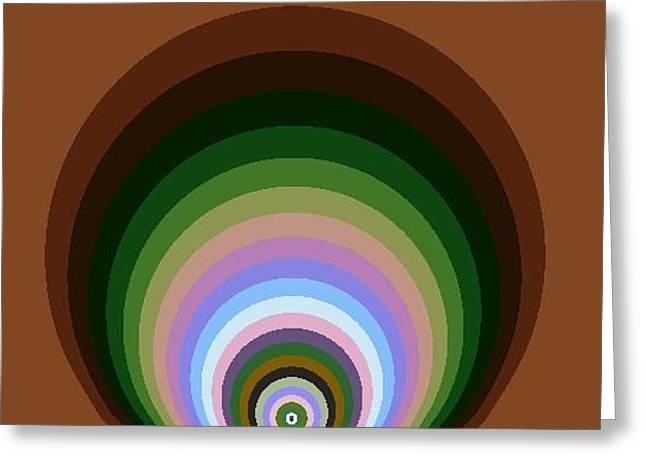 Greeting Card featuring the digital art Circle II by Dragica  Micki Fortuna