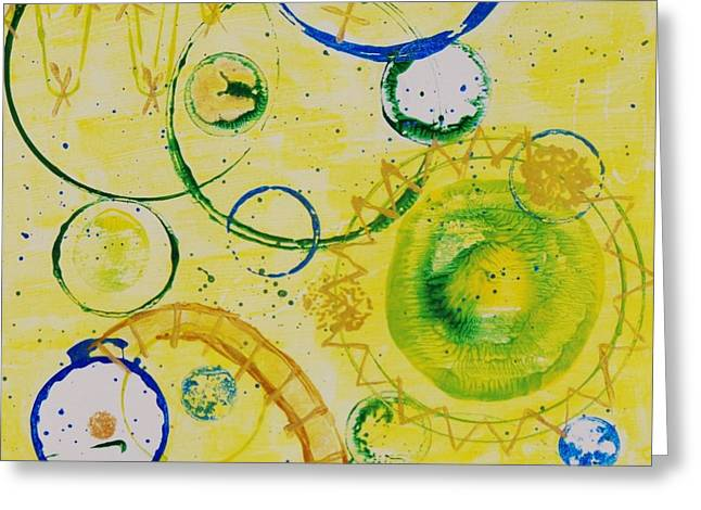 Circle Obsession 3 Greeting Card by Lori Kingston