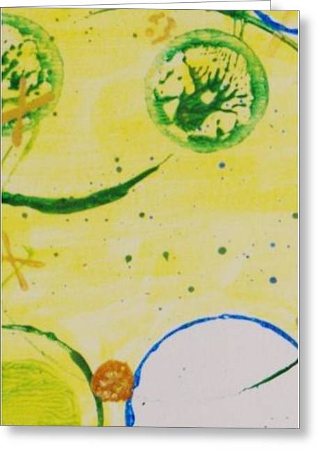Circle Obsession 5 Greeting Card by Lori Kingston