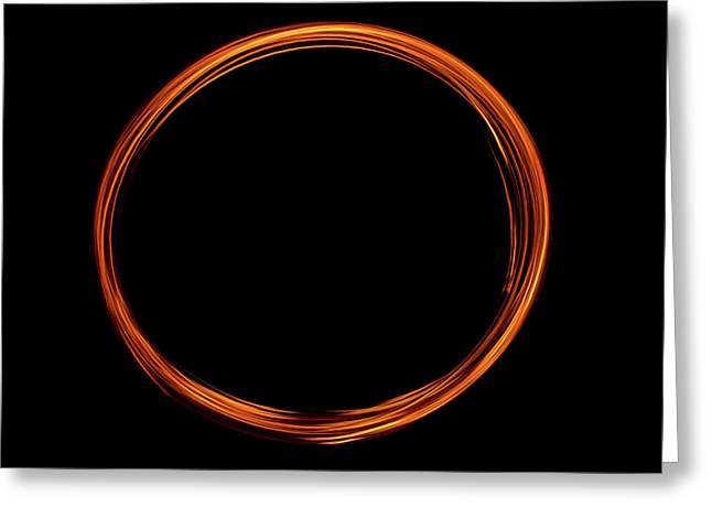 Circle Of Fire  Greeting Card by Martina Fagan