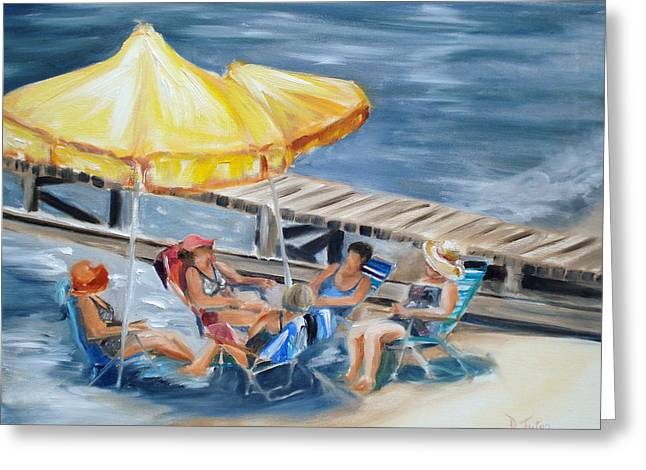 Swimwear Greeting Cards - Circle of Friends Greeting Card by Donna Tuten