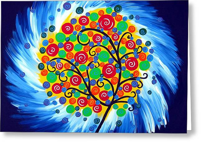 Circle Of Life Greeting Card by Cathy Jacobs