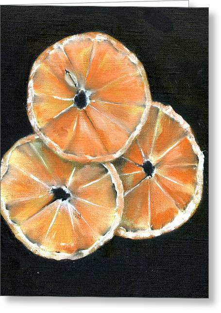 Circle Of Orange Greeting Card by Penny Everhart