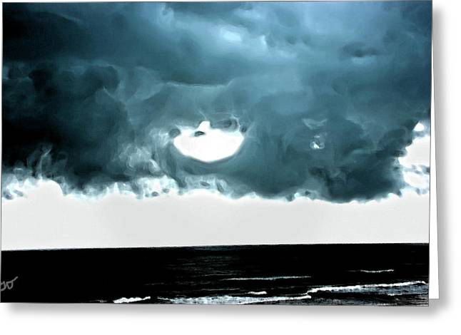 Circle Of Storm Clouds Greeting Card