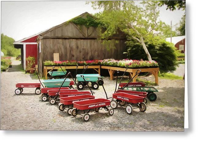 Circle The Wagons Greeting Card