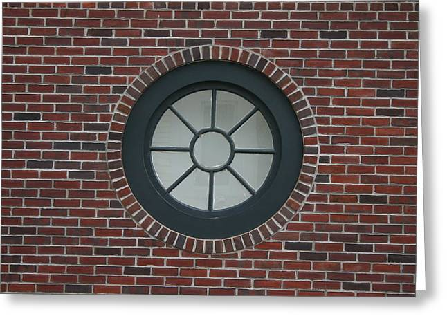 Circle Window Greeting Card by Dennis Curry