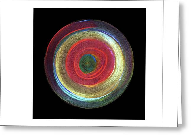 Circled Greeting Card by Mimo Krouzian