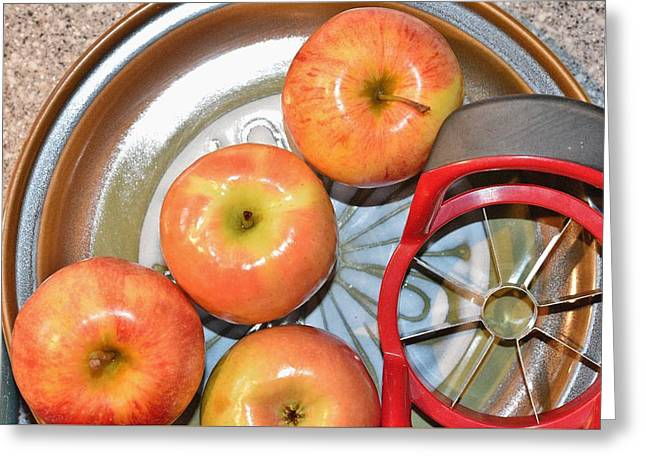 Circles 1 - Apples Greeting Card