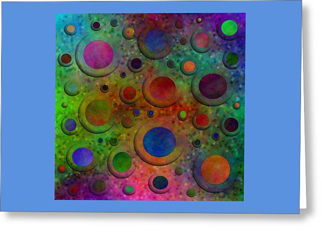 Circles Greeting Card by Diane Parnell