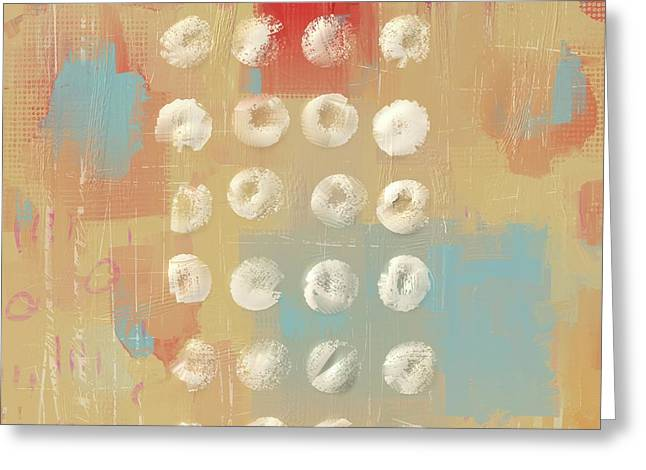 Greeting Card featuring the mixed media Circles In The Square by Eduardo Tavares