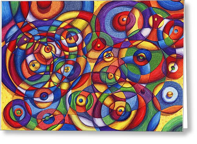 Circles Greeting Card by Maureen Frank The Mandala Lady