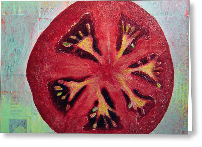 Circular Food - Tomato Greeting Card