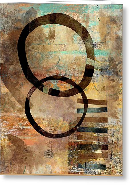 Circular Lines Greeting Card