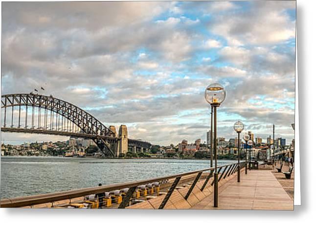 Circular Quay Panorama In Sydney Greeting Card