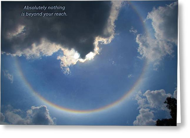 Circular Rainbow Inspiration Greeting Card