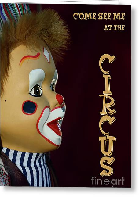 Greeting Card featuring the photograph Circus Clown By Kaye Menner by Kaye Menner