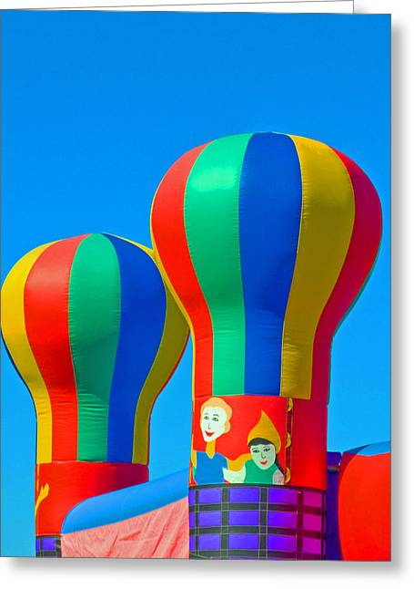 Circus In The Sky - Three Greeting Card by Allan  Hughes