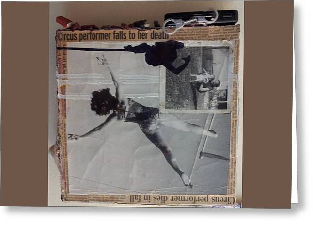 Circus Performer Falls To Her Death Greeting Card