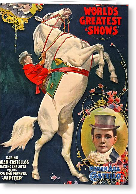 Circus Playbill 1899 Greeting Card by Padre Art