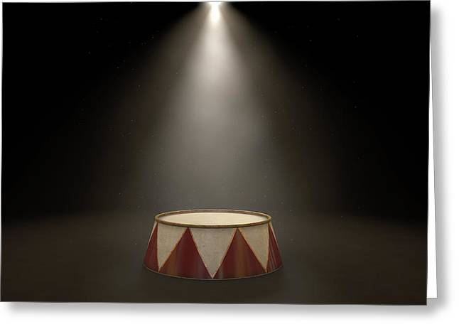 Circus Podium Spotlit Greeting Card