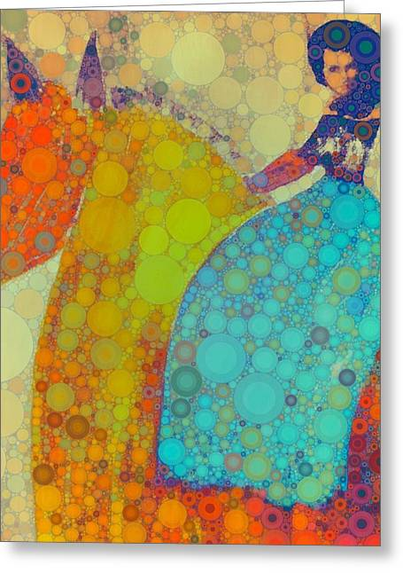 Circus Pony 2 Greeting Card by M  Stuart