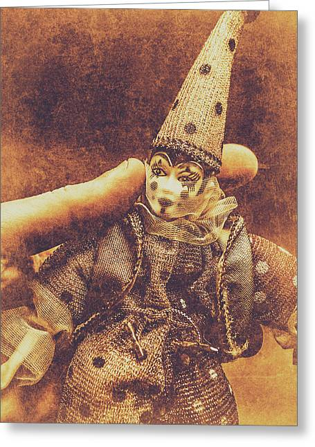 Circus Puppeteer  Greeting Card