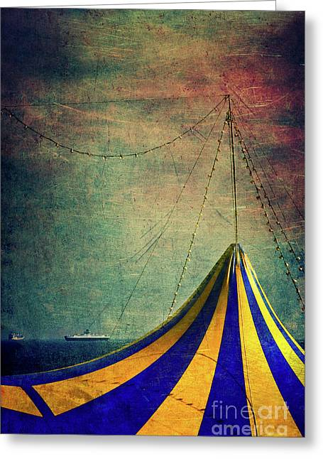 Circus With Distant Ships II Greeting Card