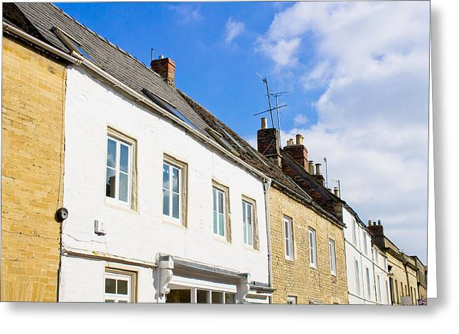 Cirencester Buildings Greeting Card by Tom Gowanlock