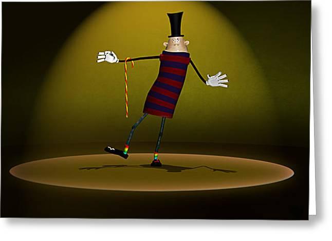 Cirkus Greeting Card by Thomas Arnoldi
