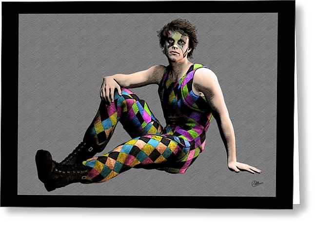 Cirque Boy Greeting Card by Quim Abella