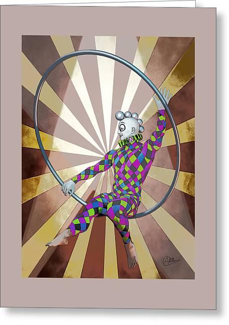 Cirque  Greeting Card by Quim Abella