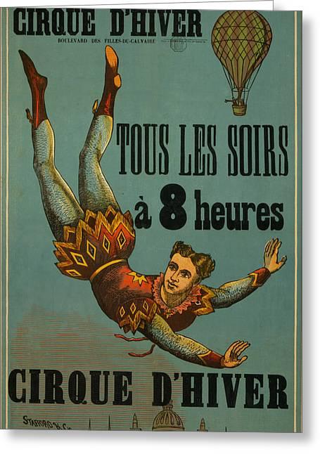 Cirque D'hiver Greeting Card