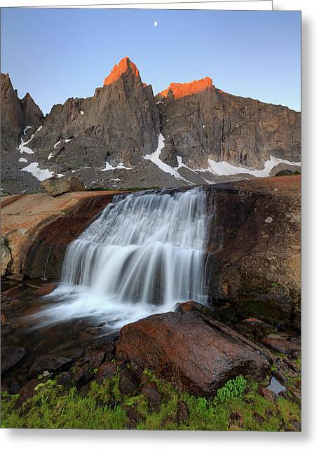Greeting Card featuring the photograph Cirque Of The Towers Sunrise. by Johnny Adolphson