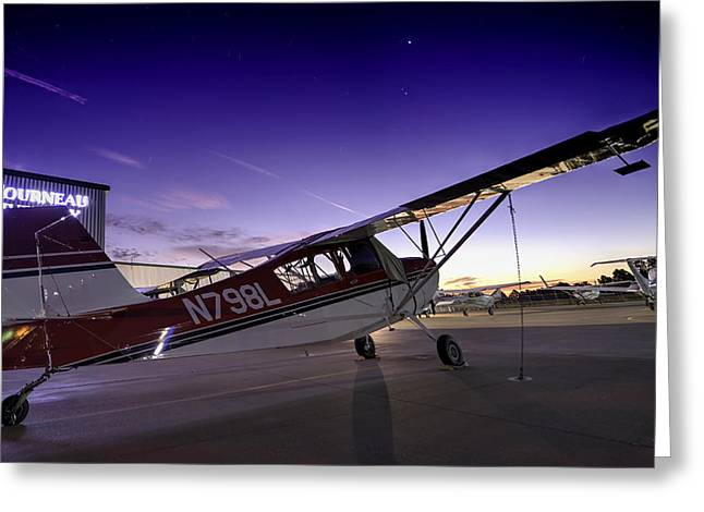 Citabria In The Twilight Of Dawn Greeting Card by Phil Rispin