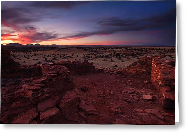Citadel Sunset Greeting Card by Mike  Dawson