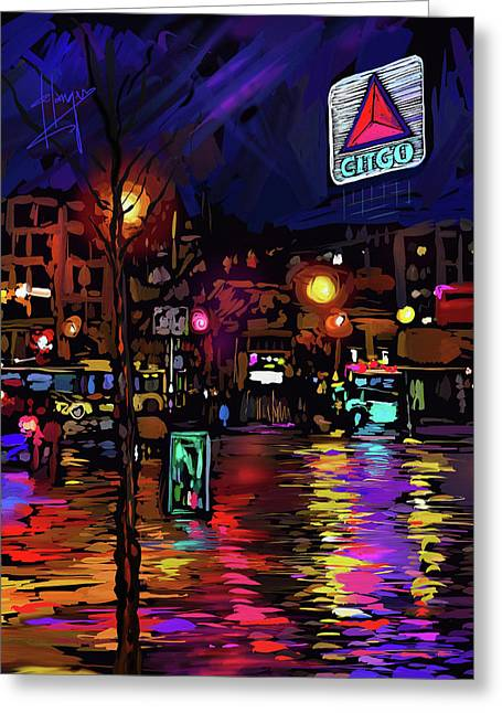 Citgo Sign, Boston Greeting Card