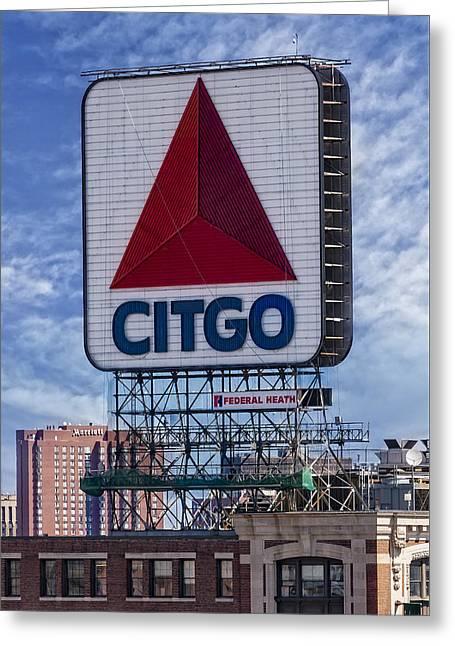 Citgo Sign Kenmore Square Boston Greeting Card