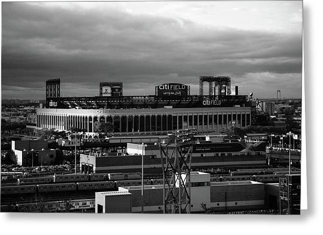 Citi Field - New York Mets Bw Greeting Card