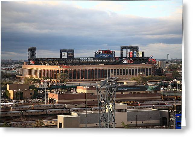 Balls Framed Prints Greeting Cards - Citi Field - New York Mets Greeting Card by Frank Romeo