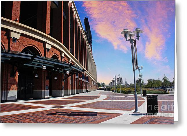 Citi Field Stadium Side View Greeting Card by Nishanth Gopinathan