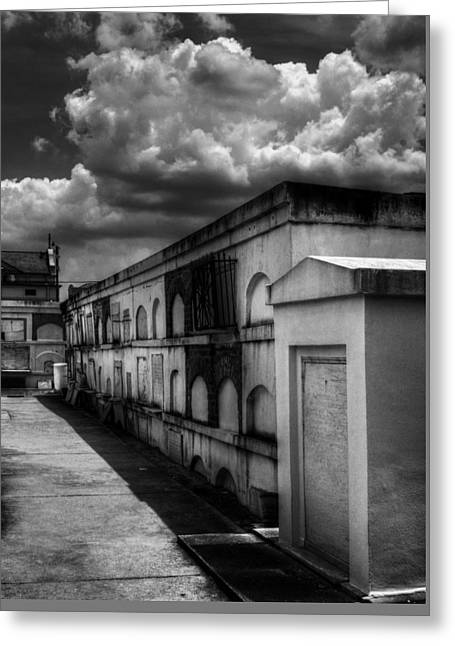 Cities Of The Dead In Black And White Greeting Card