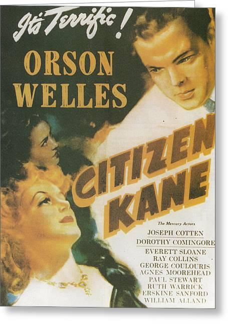 Citizen Kane - Orson Welles Greeting Card by Georgia Fowler