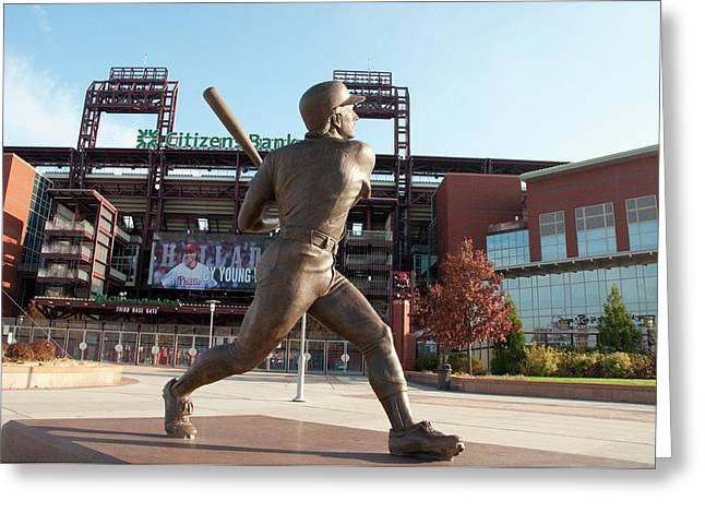 Citizens Bank - Mike Schmidt - Phillies Greeting Card by Bill Cannon
