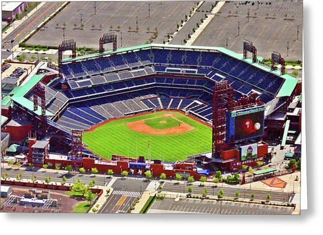 Stadium Design Greeting Cards - Citizens Bank Park Phillies Greeting Card by Duncan Pearson