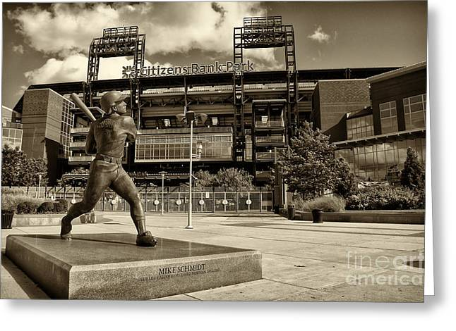 Citizens Park 2 Greeting Card by Jack Paolini