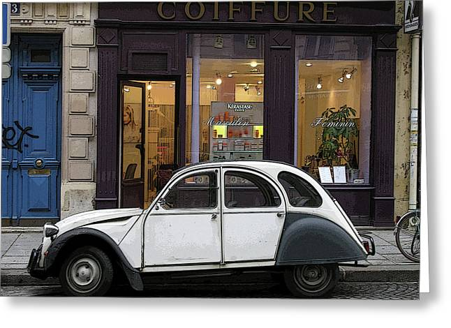 Greeting Card featuring the photograph Citroen 2cv by Jim Mathis