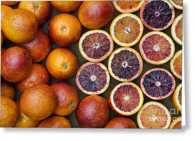 Citrus Blood Oranges Greeting Card by Tim Gainey