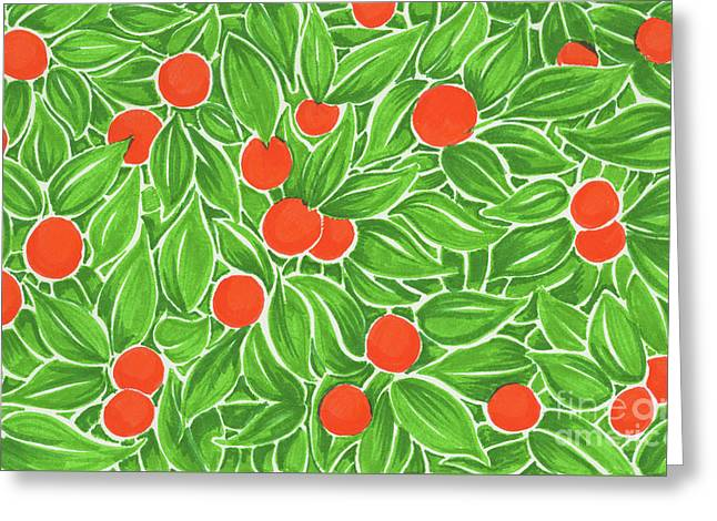 Citrus Pattern Greeting Card