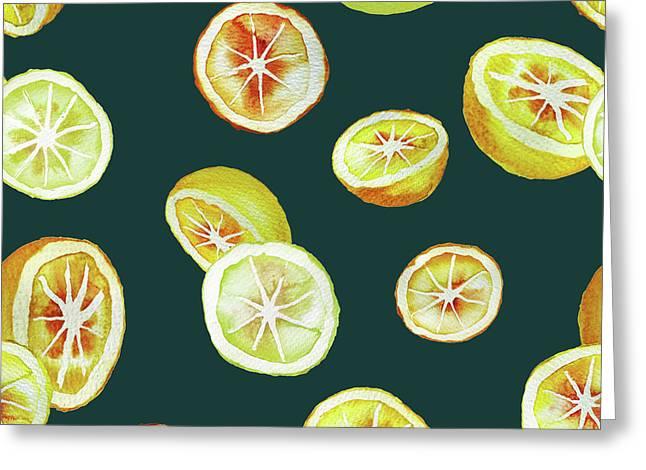 Citrus Greeting Card by Varpu Kronholm